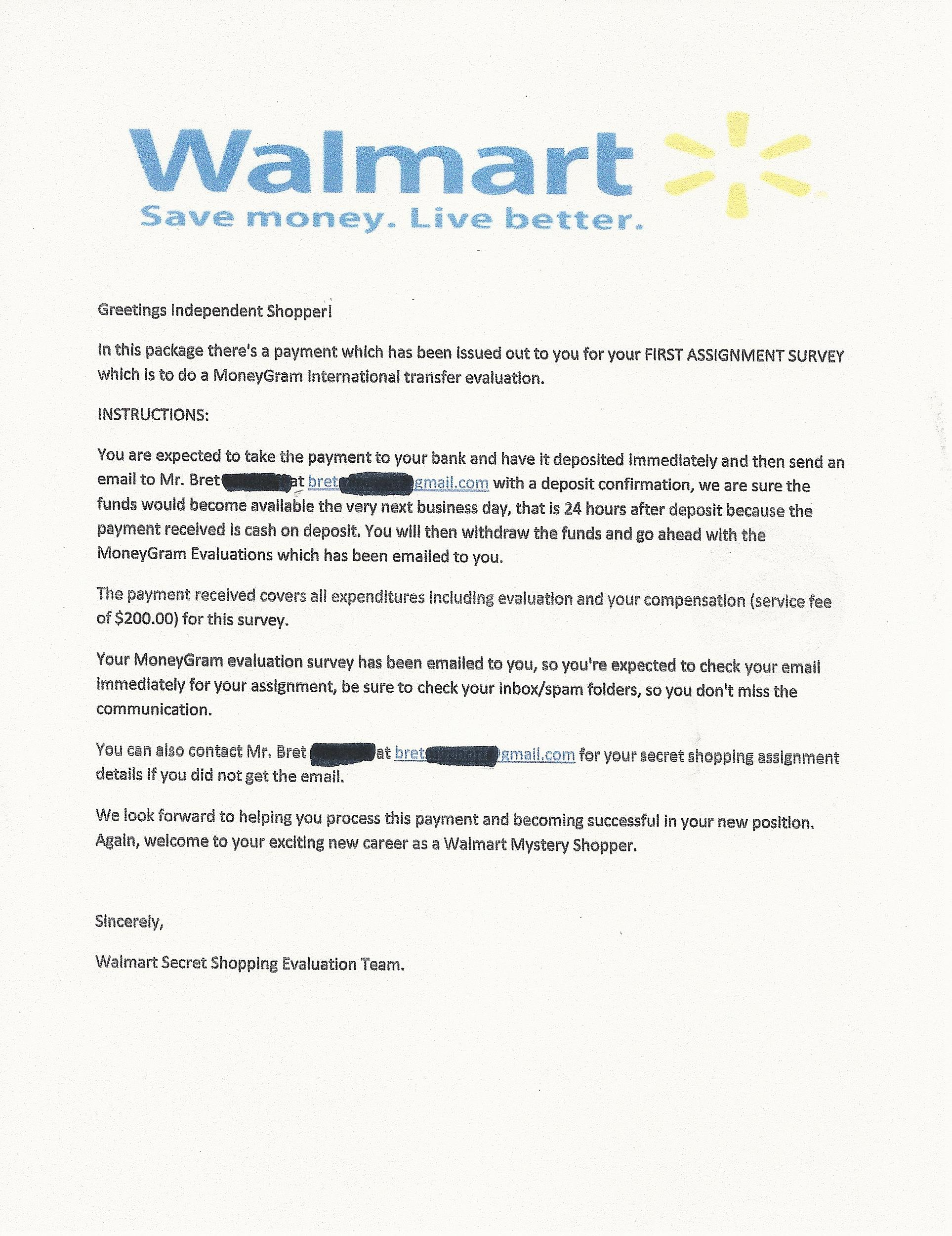 Don\'t Get Scammed via the Mail By This \'Secret Shopper\' Job
